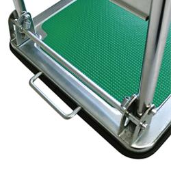 運搬台車 (スチール製鋼板補強ボディ)DSA足踏みバー
