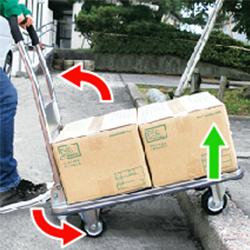 運搬台車 (スチール製鋼板補強ボディ)足踏みバー