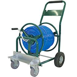 農業・園芸用運搬台車 (一輪台車・ホース台車・チェアカー・飼料・肥料散布台車)ホース台車前輪自在タイプ(オプション)