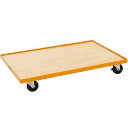ドーリーカート(ばんじゅう運搬台車) (スチール製・ステンレス製・ステンレス製)板敷きタイプ