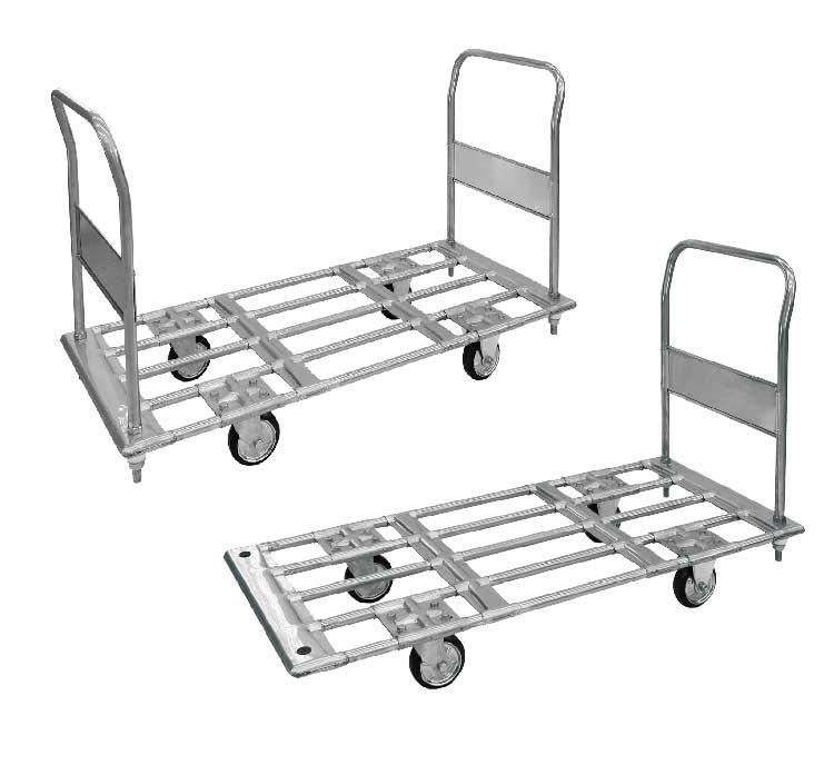 パイプ材仕様運搬台車(スチール製)