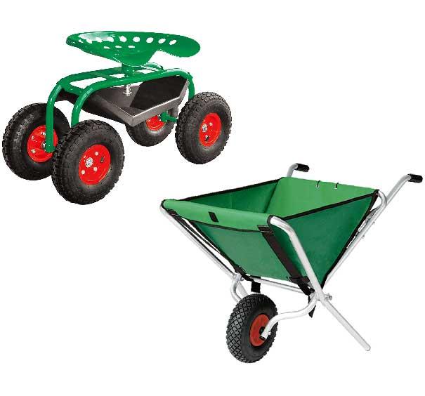 農業・園芸用運搬台車 (一輪台車・ホース台車・チェアカー・飼料・肥料散布台車)
