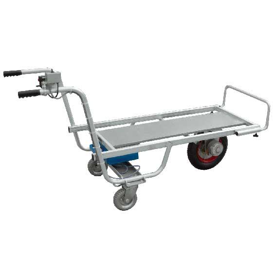 バッテリー式電動運搬台車(電動アルミロング台車)