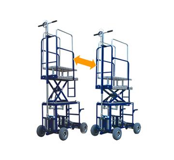 バッテリー式電動運搬台車(電動高所作業車「たかいさん」特注仕様例)