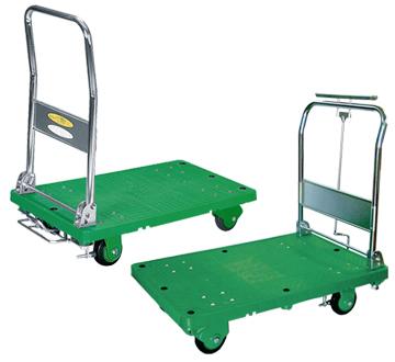 ストッパー付運搬台車(プラスチック低ノイズ製)